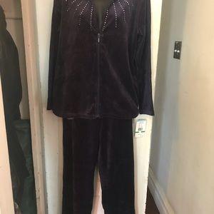 Navy blue velour sweat suit